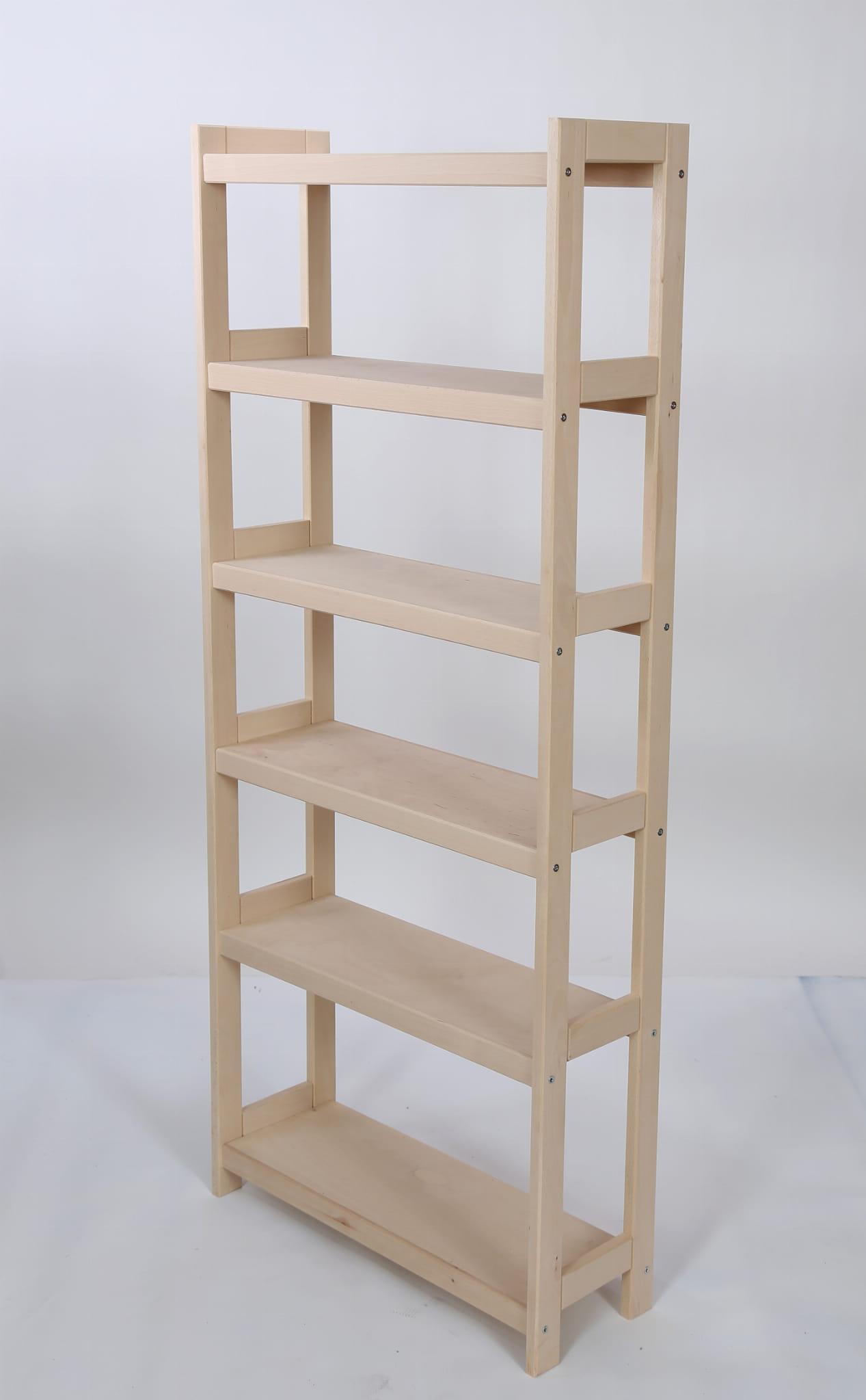 Regał Drewniany Na Książki 6 Półek 165x70x25 Cm