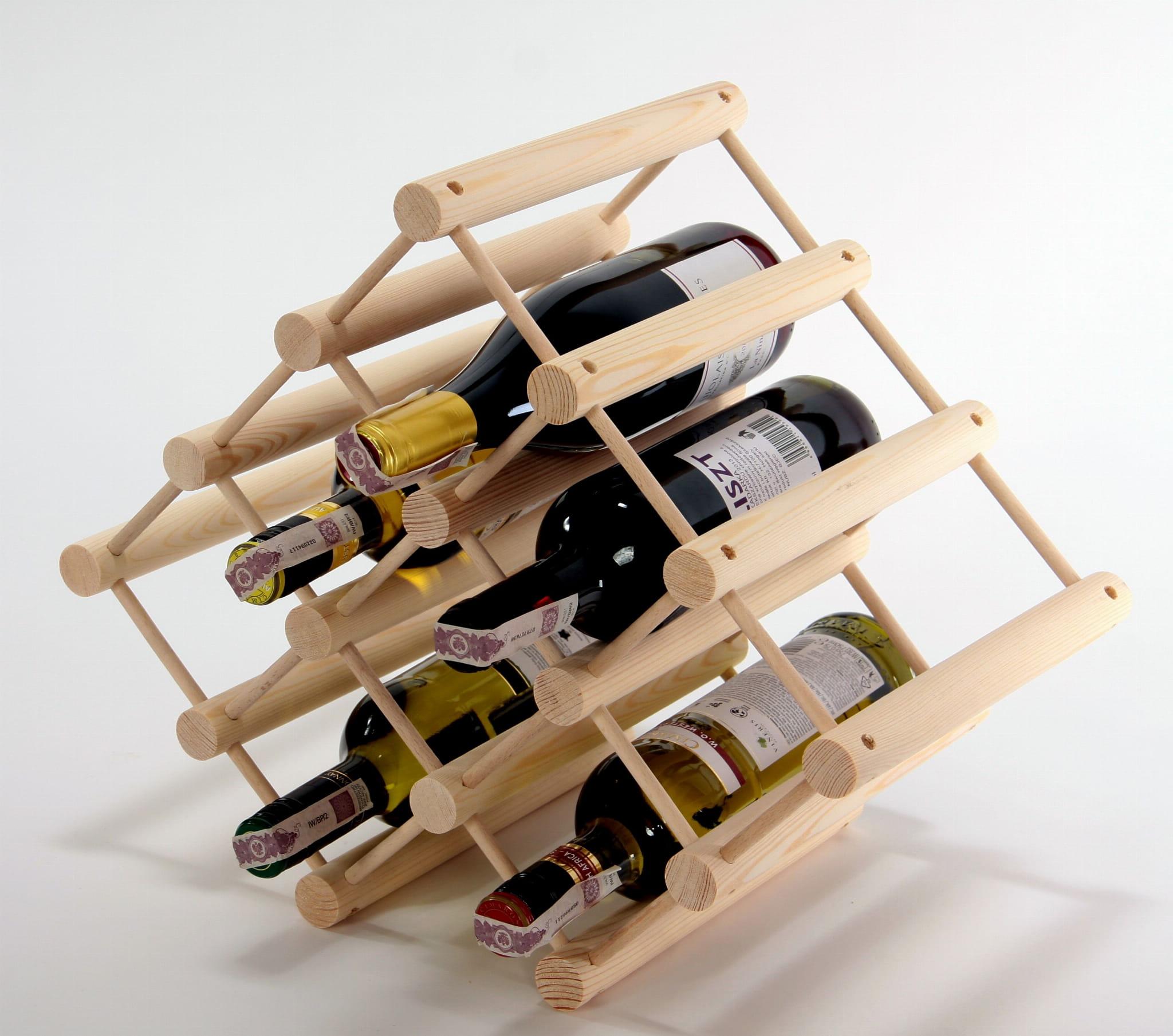 Chwalebne Stojak na wino, 12 butelek, dowolny kształt montażu. - Stolarstwo IC07